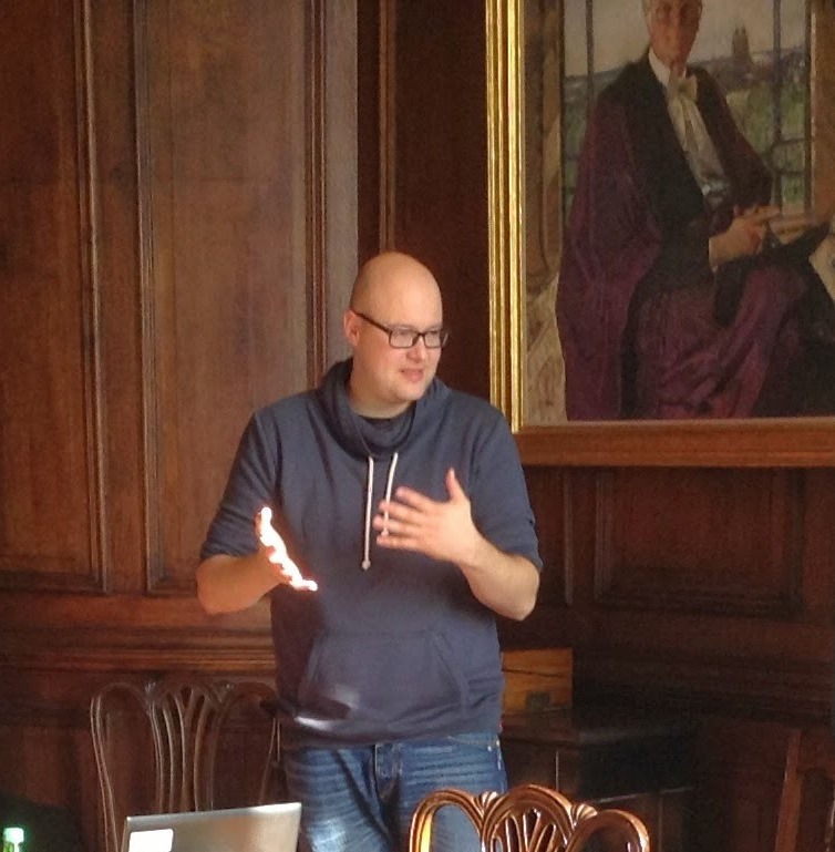 Dobusch speaking on Open Access at a CREATe event in Glasgow / October 2013