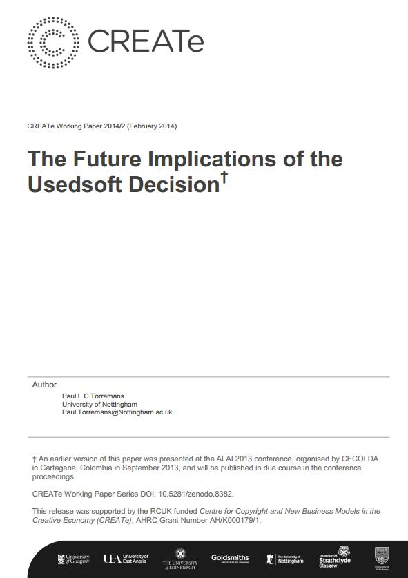CREATe Working Paper 2014-02