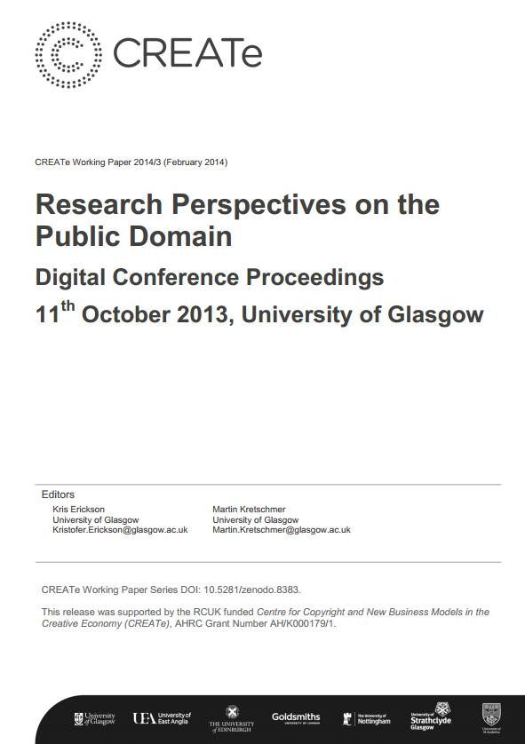 CREATe Working Paper 2014-03