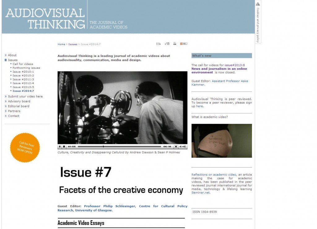 Audiovisual Thinking Journal Snapshot