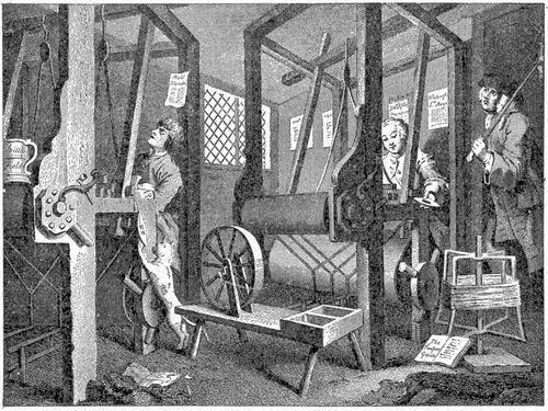 The Industrious and the Lazy Apprentice. By Hogarth.  [Public domain], via Wikimedia Commons