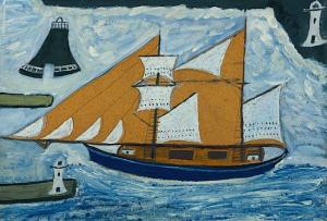Blue Ship Detail
