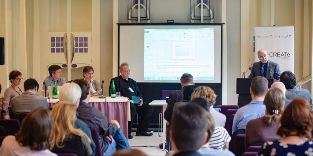 Professor Schlesinger during the closing session.