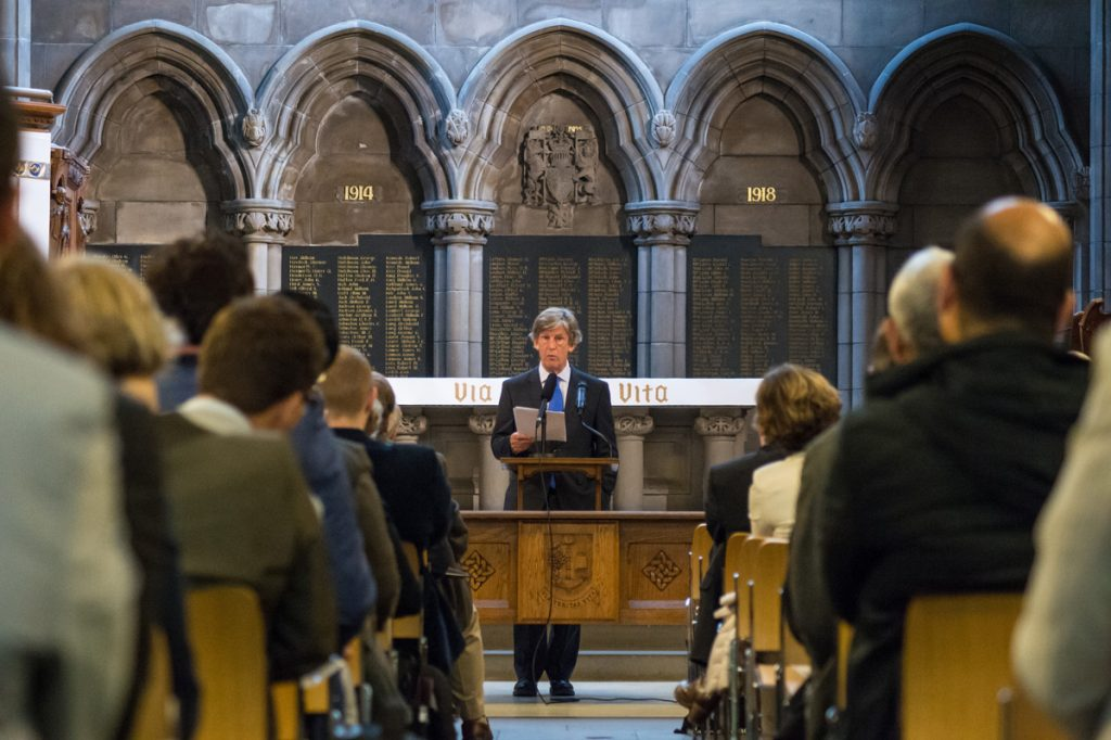 Professor Ian Hargreaves speaks during the opening keynote address at the EPIP 2015 conference in Glasgow.