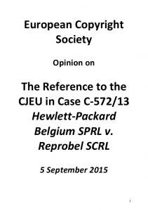 European Copyright Society on C-572-13