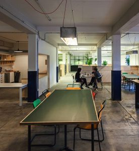 The Whisky Bond venue is a hip open workspace for agile startups in Spiers Locks, Glasgow