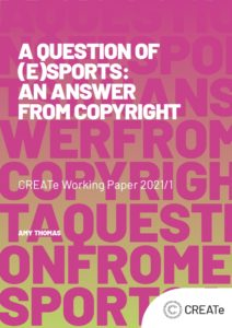 Cover of the Working Paper, A Question of eSports