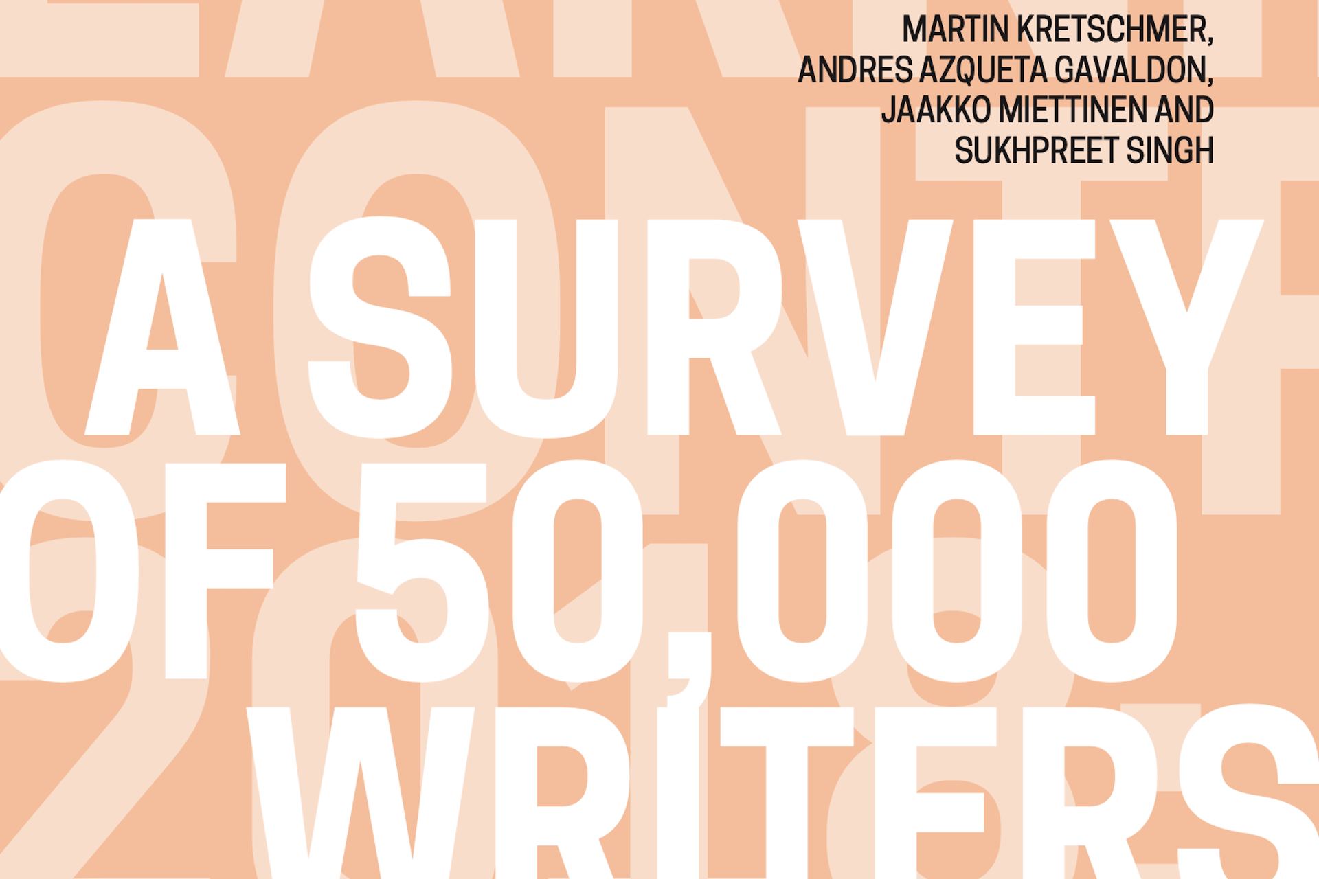 Cover - UK Authors' Earnings and Contracts 2018: A Survey of 50,000 Writers