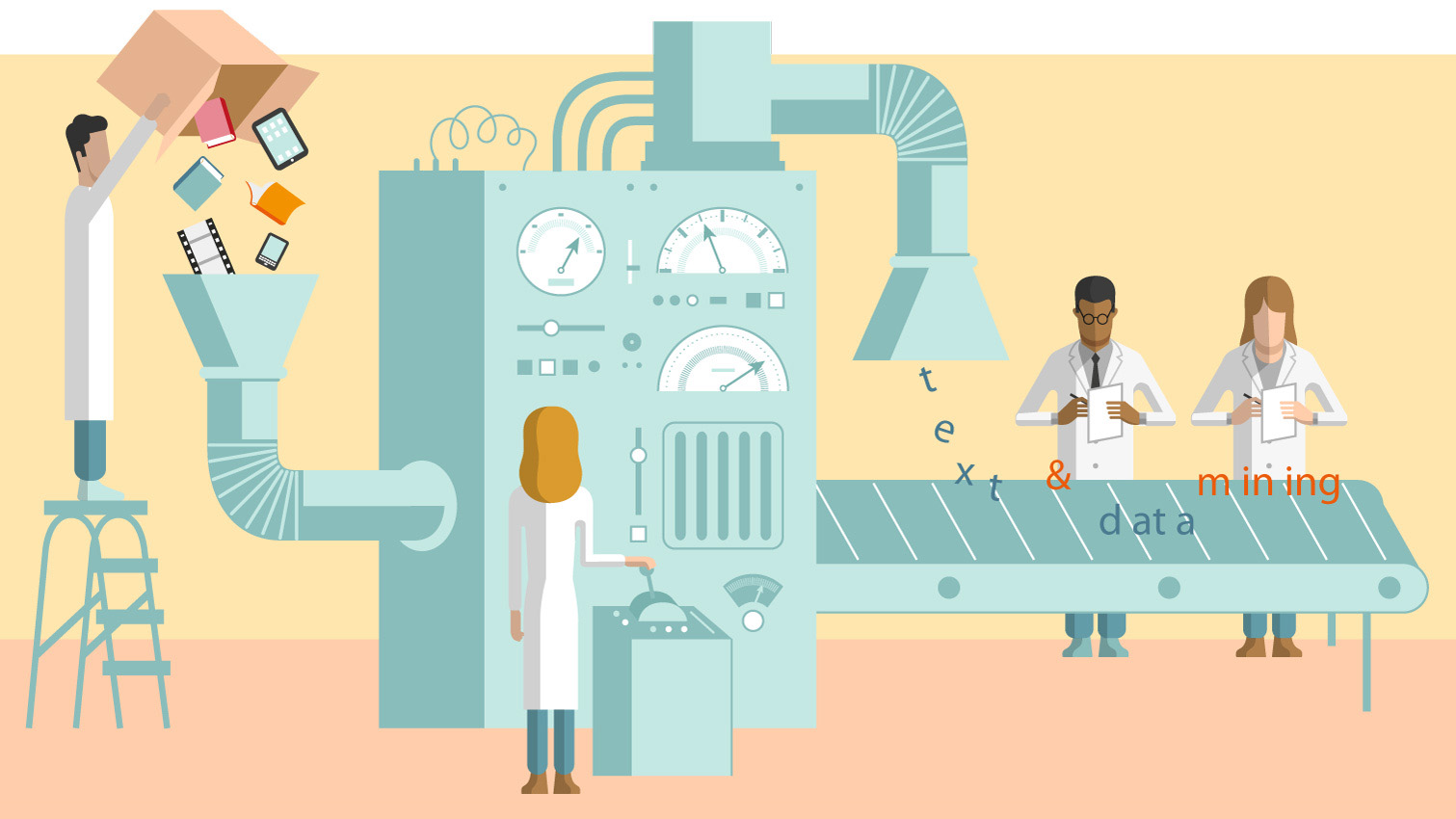 Text and Data Mining - Illustration by Davide Bonazzi
